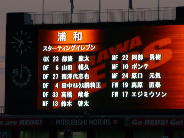 浦和レッズ スタメン